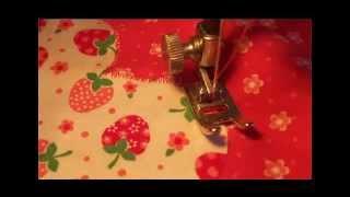 Как выполнять аппликацию на швейной машинке