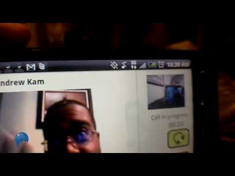 Skype video calling on an HTC EVO 4G (Live demo) Sprint