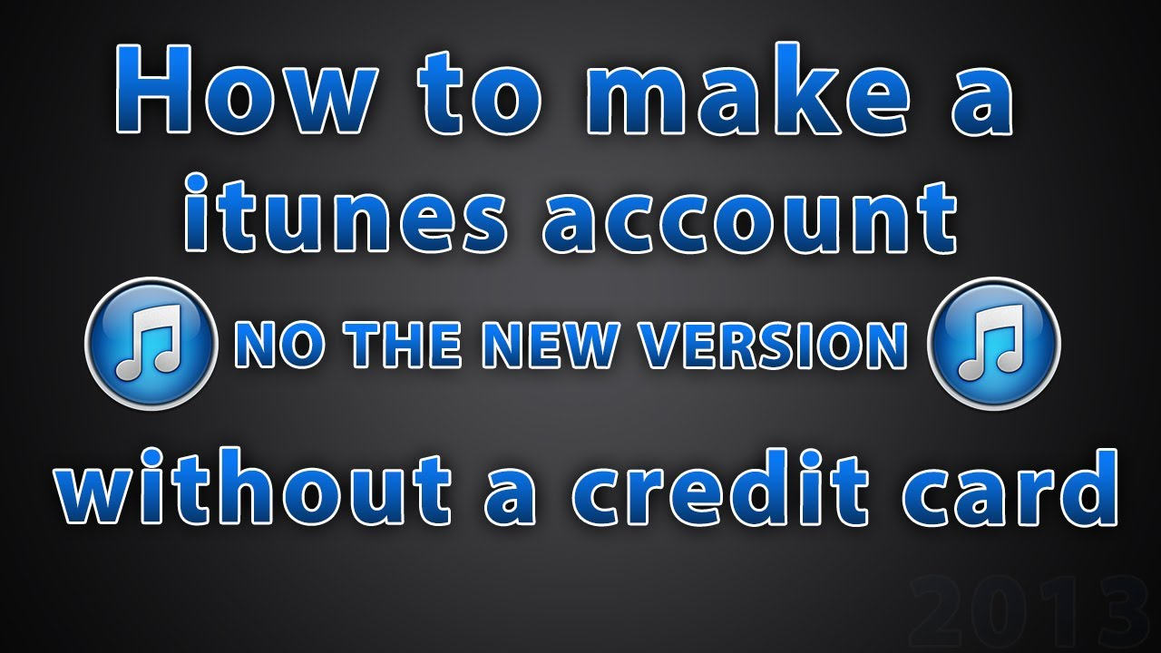 how to create us itunes account without credit card