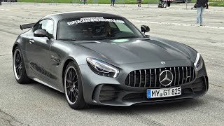 760HP Mercedes AMG GT-R RENNtech R760 - Start Up & LOUD Accelerations on the Airstrip!