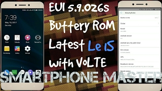 Eui 5.9.026s VoLTE Le1s / LeEco 1s Latest ROM with VoLTE (original icons are replaced with 3dots)
