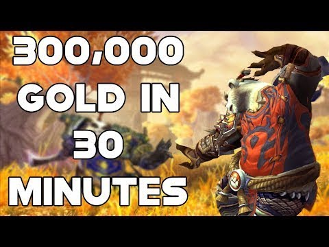 World Of Warcraft Gold Farm 300,000 Gold In 30 Minutes #StayInside
