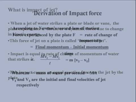 impact of jet on vanes 1 impact of jet on vanes session – iv problems -11 a symmetrical curved vane is moving with a velocity of 'u' and a jet of velocity 'v' strikes at the centre along the direction of motion.