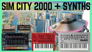 SimCity 2000 on Modern Synths: Subway Song on Minilogue, Monologue, TR-8, Korg Volcas