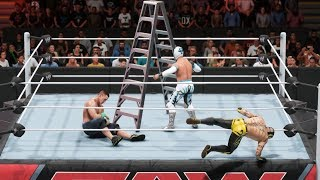 WWE 2K19 - Rey Mysterio vs John Cena vs Sin Cara - TLC Gameplay (PC HD) [1080p60FPS]