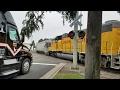 Industrial Boulevard Railroad Crossing, UP  809 YSR61r Local, West Sacramento CA