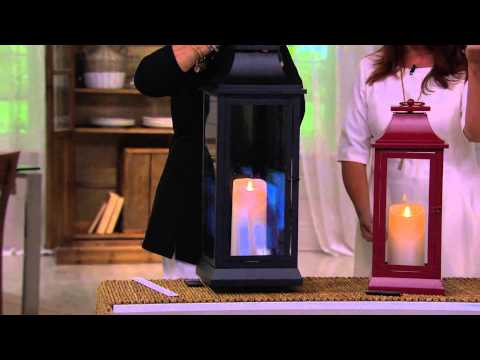 "Luminara 25"" Heritage Indoor Outdoor Lantern with Flameless Candle & Remote with Pat James-Dementri"