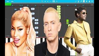 Nicki Minaj - Majesty PIANO Tutorial (Piano Cover) ft. Labrinth & Eminem