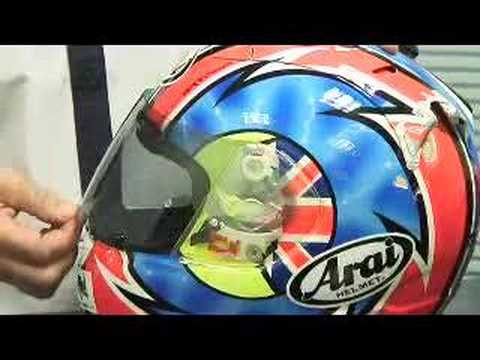 How to change an Arai visor
