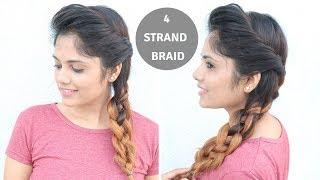 4- Strand Braid Hairstyle For Medium To Long Hair