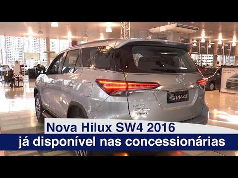 A Nova Hilux SW4 2016 já chegou nas concessionárias