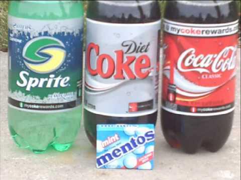 mentos i cola forsøk