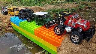 Build Bridge Blocks Toys For Kids Excavator Road Roller Dump Truck For Children | Car Toys For Kids