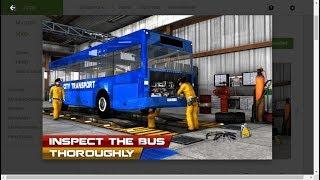Bus machine auto repair shop- car garage simulator