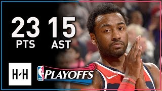 John Wall Full Game 1 Highlights Wizards vs Raptors 2018 Playoffs - 23 Pts, 15 Assists!