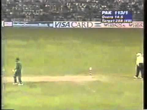 Ind vs Pak 1996 World Cup QF : Amir Sohail vs Venkatesh Prasad famous FACE-OFF