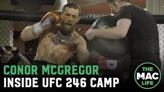 Conor McGregor works striking ahead of Donald Cerrone fight with Irish DJ on the decks