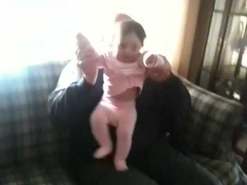 Dancing Lulli with Granpa Don