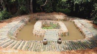 primitive technology idea build swimming pool using bamboo
