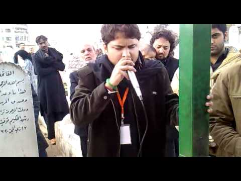 Syed Raza Abbas Zaidi Reciting Noha Khowab-e-sughra (as) Infront Of Roza-e-bibi Sughra(as) Sham 2011 video