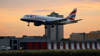 Sunday Sunset Spotting at London City Airport