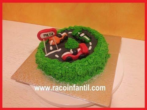 Decorar una tarta con coches de carreras for Como decorar una torta facil y rapido