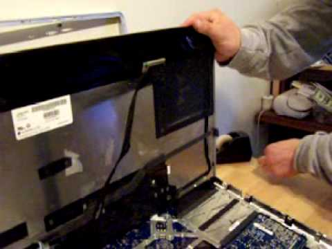 iMac 7.1(2008) hard drive replace/install/upgrade. open case PT.1