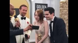 Реакция Эммы Стоун на поцелуй бывшего с Райаном Рейнольдсом (видео)