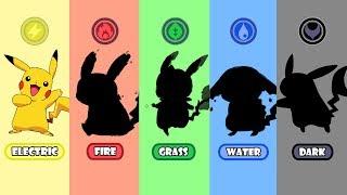 Requests #2 - Pokemon Type Swap: Pikachu Fire, Water, Grass And Dark.
