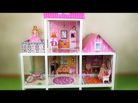 Смотреть видео домики своими руками для кукол