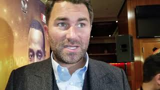 BREAKING NEWS: EDDIE HEARN ADDRESSES DILLIAN WHYTE MEETING WITH PBC AND OTHER PROMOTERS  !!