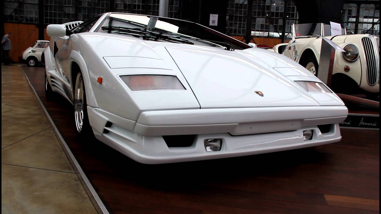 gorgeous white lamborghini countach 25th anniversary edition youtube. Black Bedroom Furniture Sets. Home Design Ideas