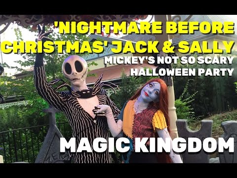Nightmare Before Christmas Jack & Sally meet and greet at Mickey's Not So Scary Halloween Party