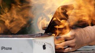 Flamethrower vs. iPhone