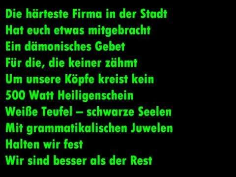 Böhse Onkelz - Die Firma Lyrics