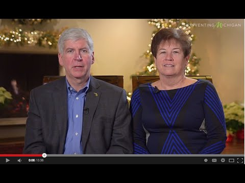 Gov. Rick Snyder and First Lady Sue Snyder wish Michiganders happy holidays