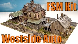 FineScale Miniatures 2015 Super Kit Westside Auto | FSM model railroad craftsman kit George Sellios