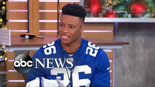 New York Giants running back Saquon Barkley is our new