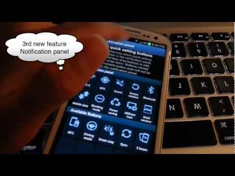 Galaxy S3 i9300 Running Android Jelly Bean 4.1.2 NEW FEATURES - Multi Window, Smart Rotation...
