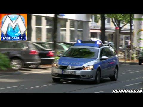 FuStW Polizei + RTW BF Düsseldorf FW 1