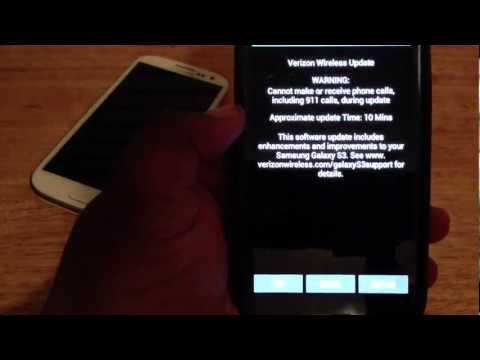 Verizon Samsung Galaxy S 3 jelly bean 4.1.1 update 12/14/12
