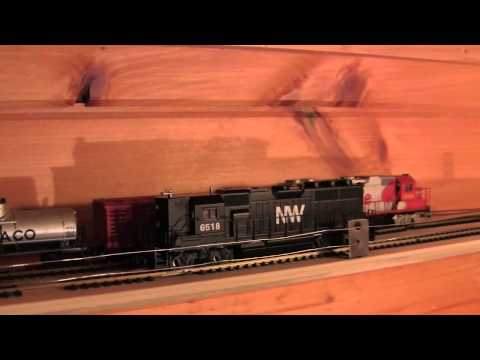 Ceiling Shelf Train Layout