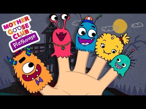 Halloween Songs | Finger Family | Monster Finger Family | Mother Goose Club Playhouse Kids Song