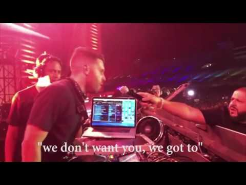 Dj Khaled getting trolled by yellow claw & crowd at EDC 2017 Las Vegas
