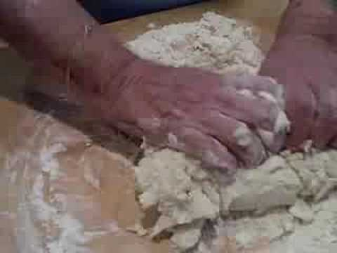 Preparing Ricotta Cheese Gnocchi