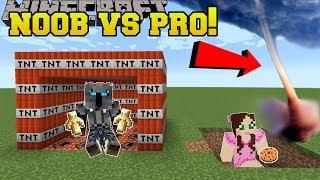 Minecraft: NOOB VS PRO!!! - ROBLOX DISASTER SURVIVAL! - Mini-Game