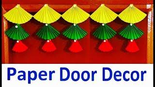 Door hanging Toran | Door decor craft from simple color paper | Bandarwal | Christmas decoration