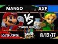 Smash Con 2017 SSBM - C9 | Mang0 (Falco, Mario) Vs. Tempo | Axe (Pikachu, Y.Link) Smash Melee WQ