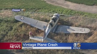 WWII-Era Propeller Plane Runs Off Runway At Livermore Airport