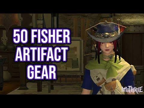FFXIV A Realm Reborn - 109 - 50 Fisher + Artifact Gear